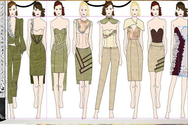 Web Seminar Adobe Illustrator For Fashion Design Digital Fashion Illustration Fashion Figures Fashion