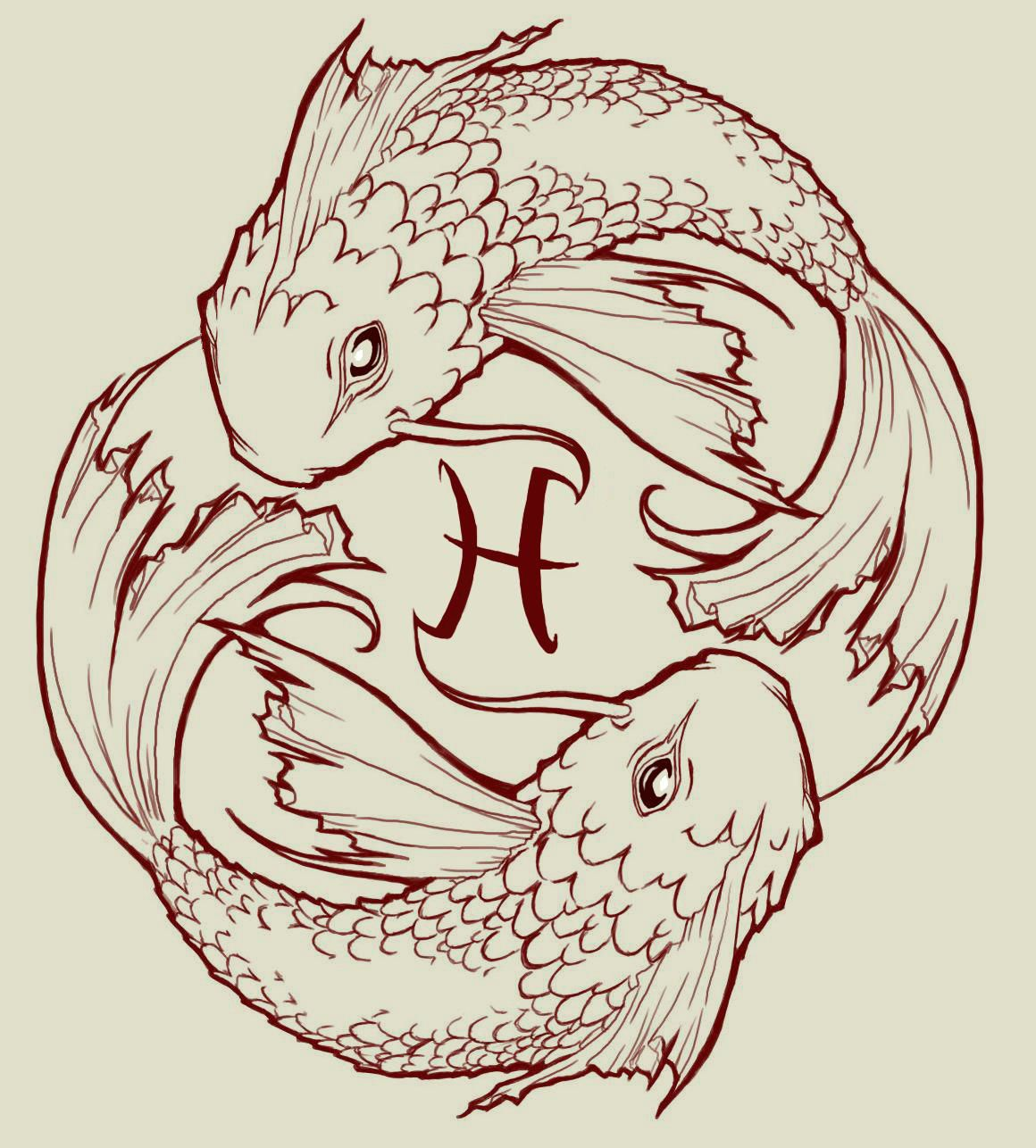 Pisces Tattoos, Pisces Tattoo Designs, Fish Drawings