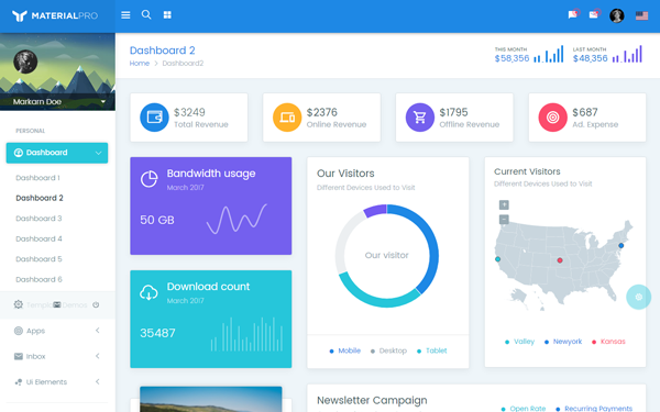 Materialpro Bootstrap 4 Material Admin Bootstrap Theme