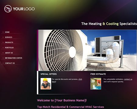 Impressive Web Design Available In 6 Color Themes Comes Ready