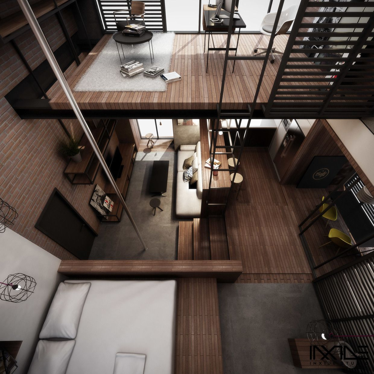 Best Kitchen Gallery: Two Story Home Choices Spaces And Loft House of Efficient Home Loft Design on rachelxblog.com