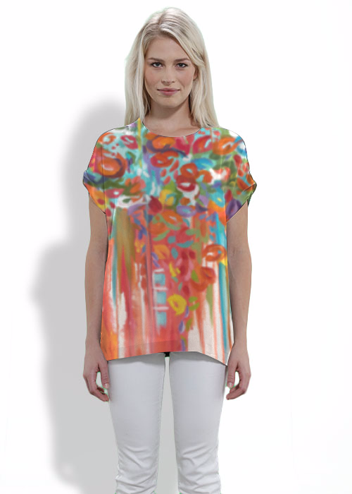 Modern Tee - Floral Tee by VIDA VIDA Shop For Online Purchase Cheap Cheap Best Prices qrusPo