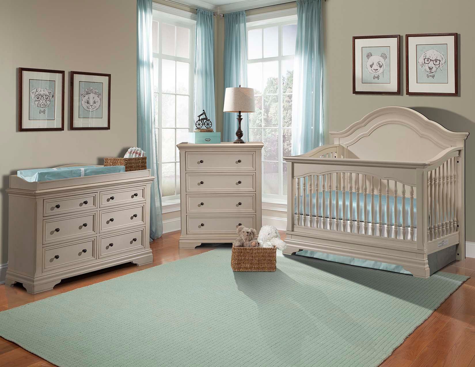 Stella baby and child athena 3 piece nursery set in belgium cream also comes in french white at Baby bedroom furniture sets