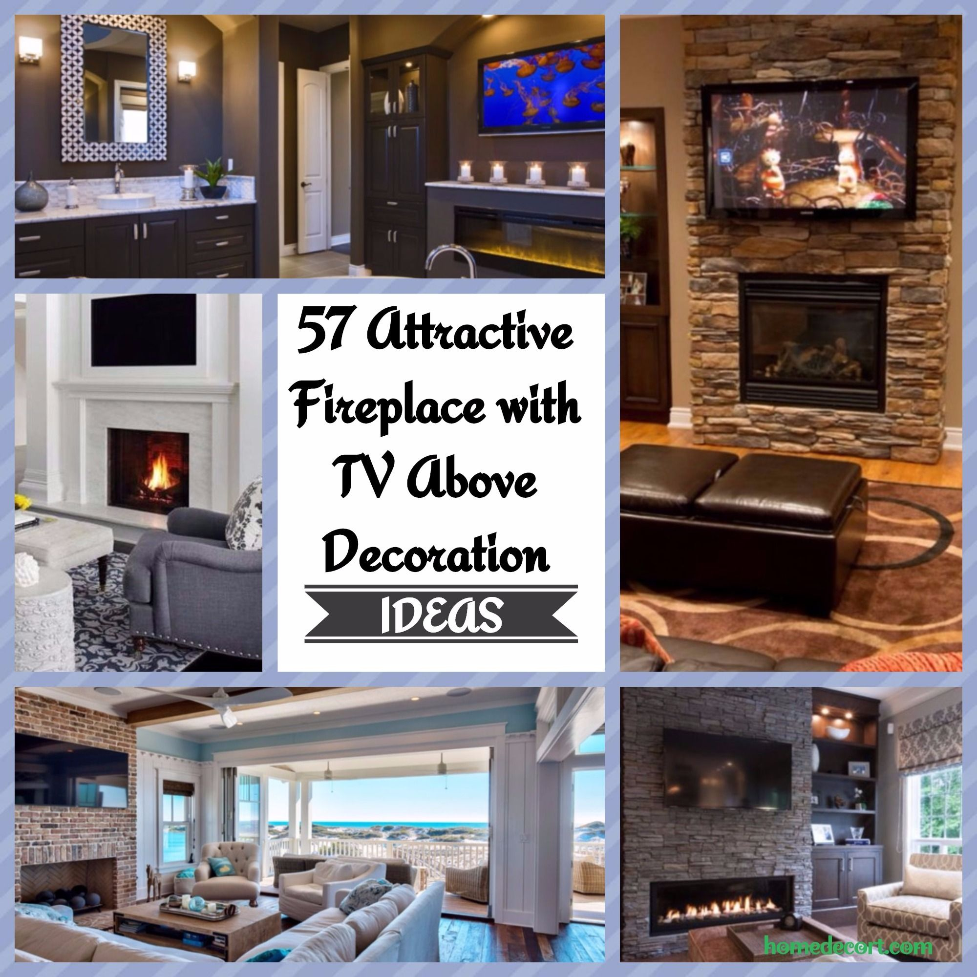 57 Attractive Fireplace With Tv Above Decoration Ideas Fireplace  # Meuble Tv Angle Spaceo