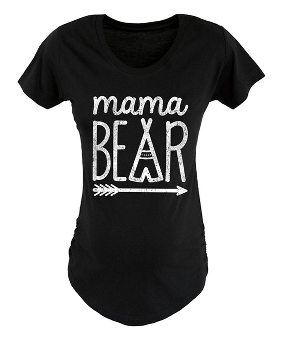 e940cf52e5575 Loving this Black 'Mama Bear' Maternity Tee on #zulily! #zulilyfinds ...