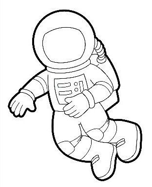 free printable astronaut coloring page - Astronaut Coloring Pages