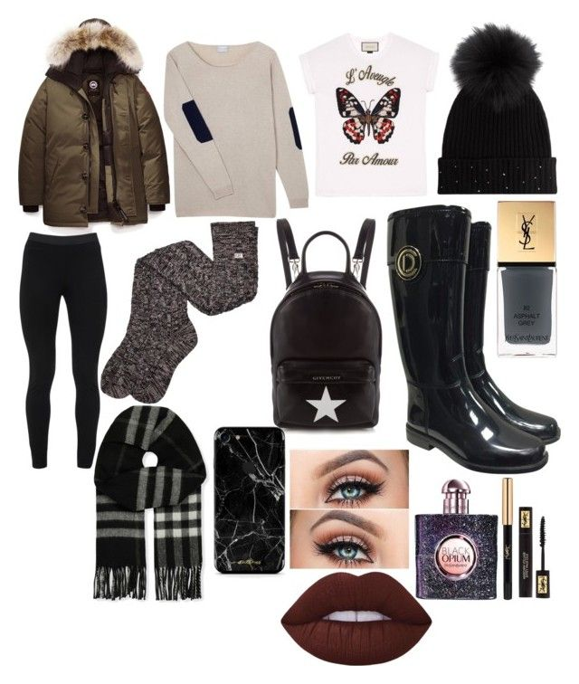 """""""Oxfordshire"""" by xlivtieyx on Polyvore featuring Christian Dior, Canada Goose, Peace of Cloth, M. Miller, Gucci, Orwell + Austen, UGG, Givenchy, Burberry and Yves Saint Laurent"""