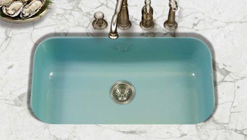 porcelain enamel kitchen sinks in 3 styles 8 colors including rh pinterest com  dark color kitchen sinks