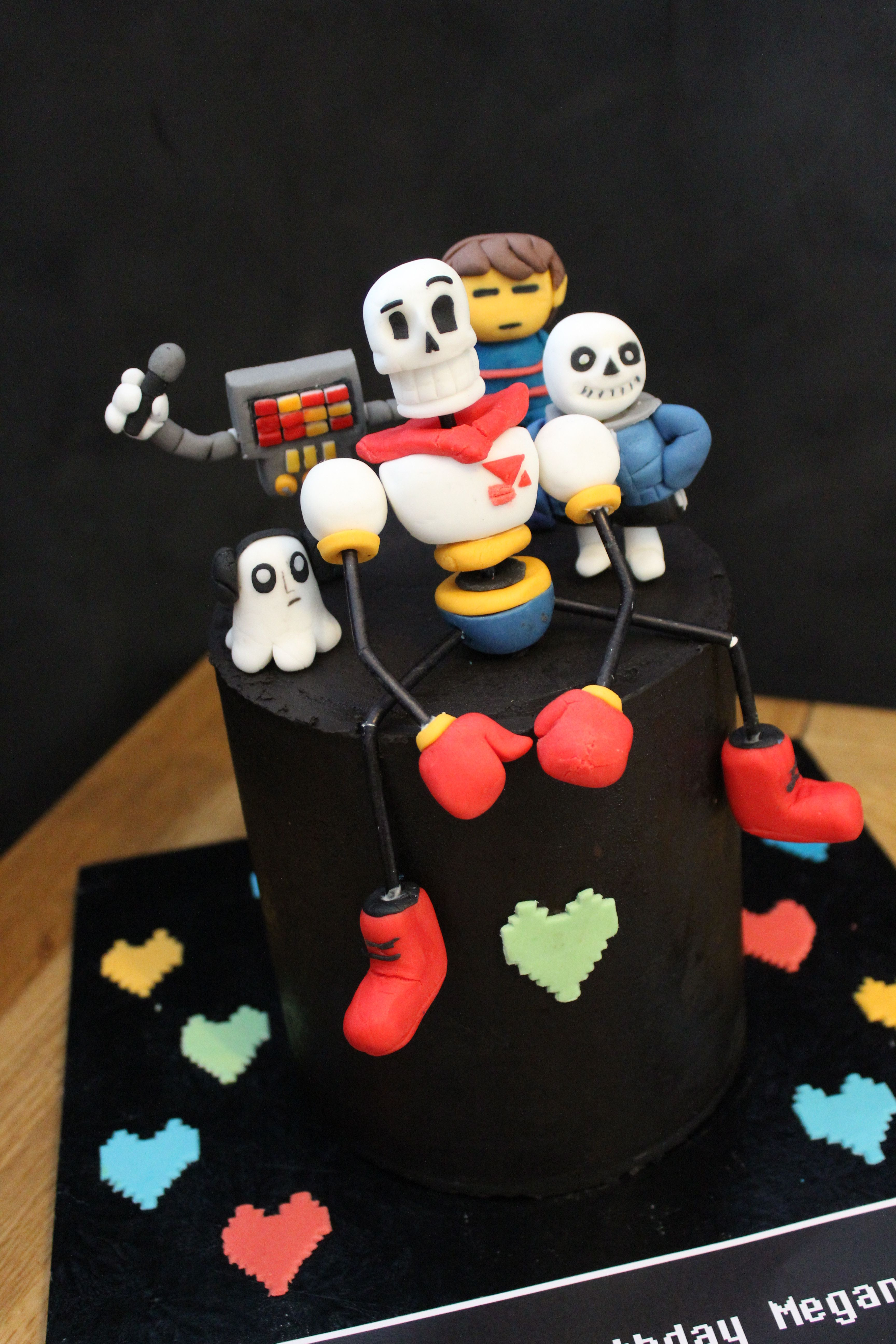 Undertale Birthday Cake With Papyrus Metatron Frisk