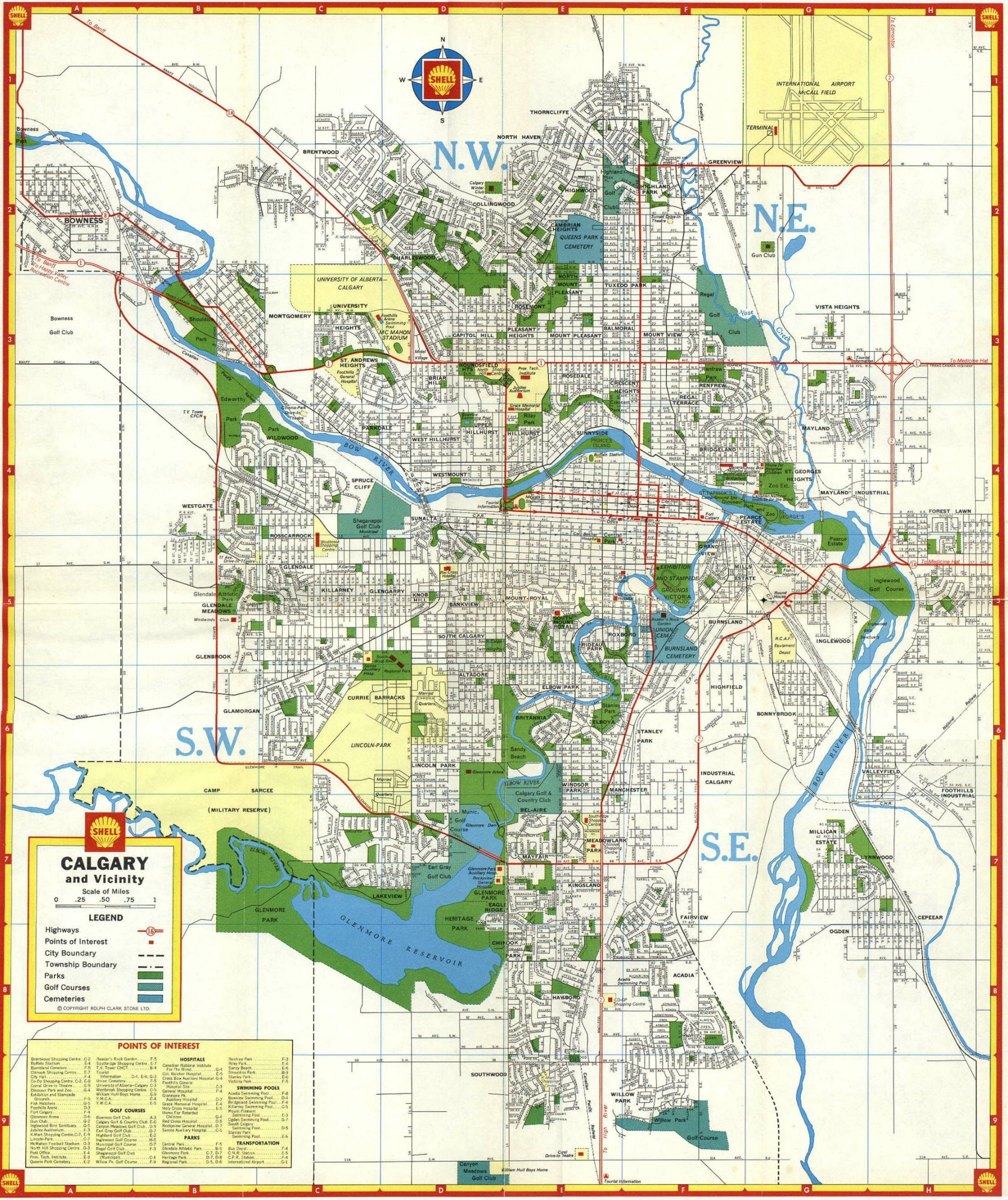 Since We Re Sharing Old Maps Shell Calgary City Map 1966 Old