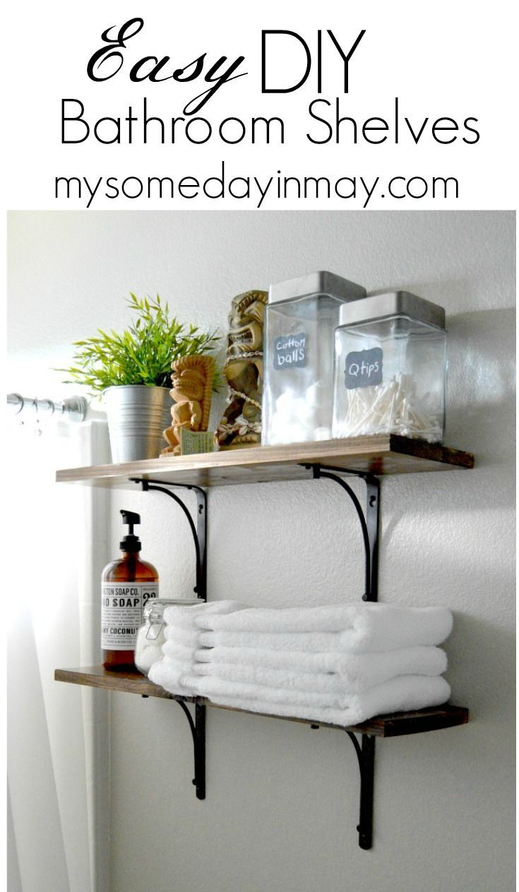 The easiest DIY bathroom shelves! | Bathroom inspiration | Pinterest ...