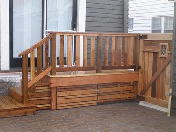 Great Way To Cover Storage Under Deck Or Stairs