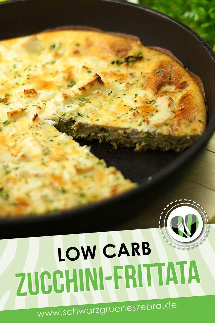 Zucchini-Frittata - Low Carb - LCHF - Gesund - GLUTENFREI