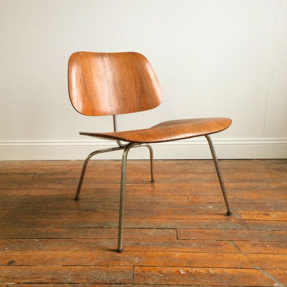 Vintage Herman Miller Eames Molded Plywood Lounge Chair Lcm