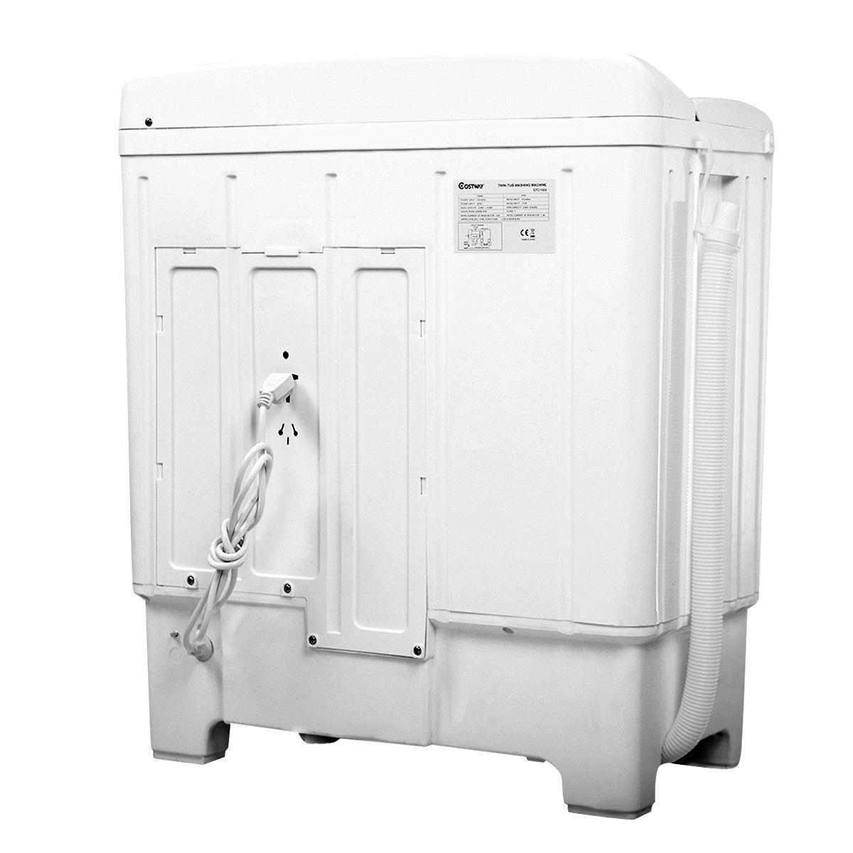 11 lbs Compact Twin Tub Washing Machine Washer Spinner