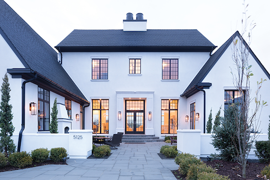 Home Tour Black And White Transitional Chic House Exterior