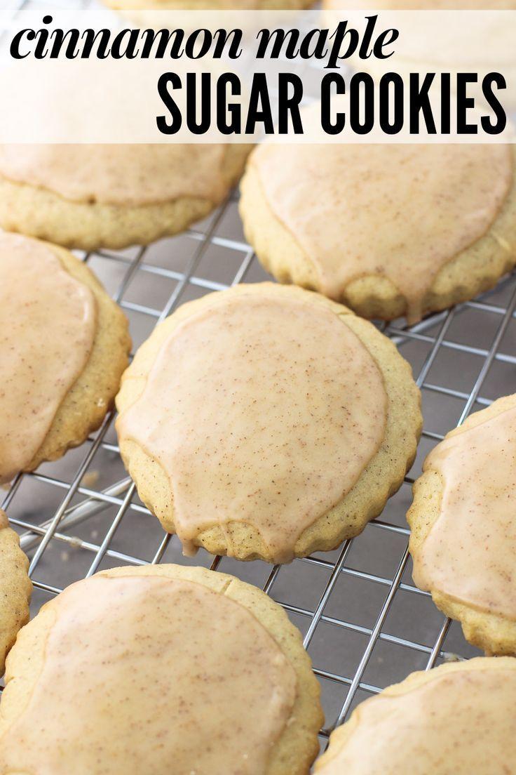 Cinnamon Maple Sugar Cookies #cinnamonsugarcookies