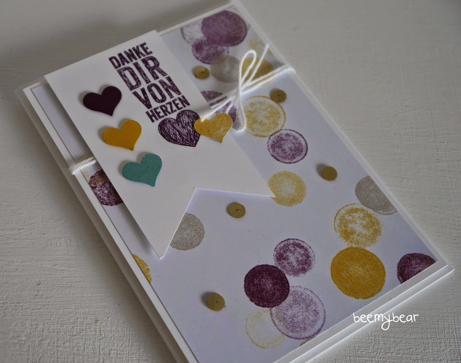 stampin with beemybear - card