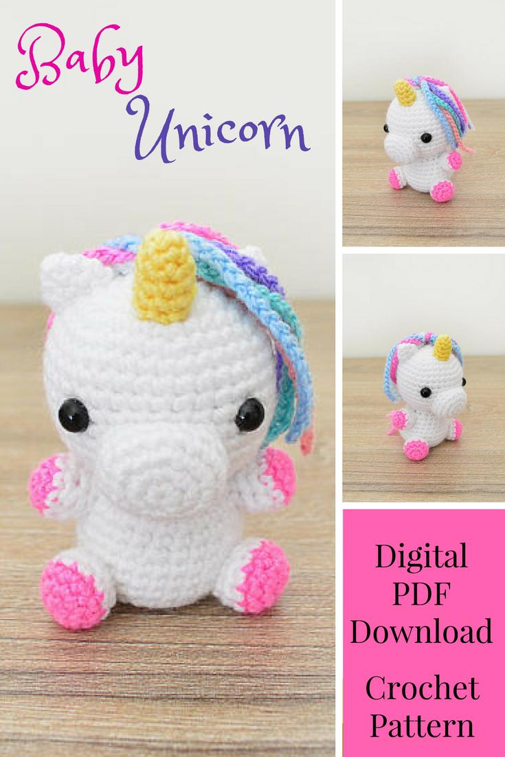 This is too freakin cute!! CROCHET PATTERN in English - Unicorn ...