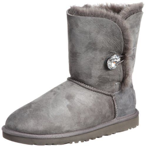 53f3e8198bb UGG Australia Womens Bailey Button Bling Boot Grey Size 7 -- Learn more by  visiting