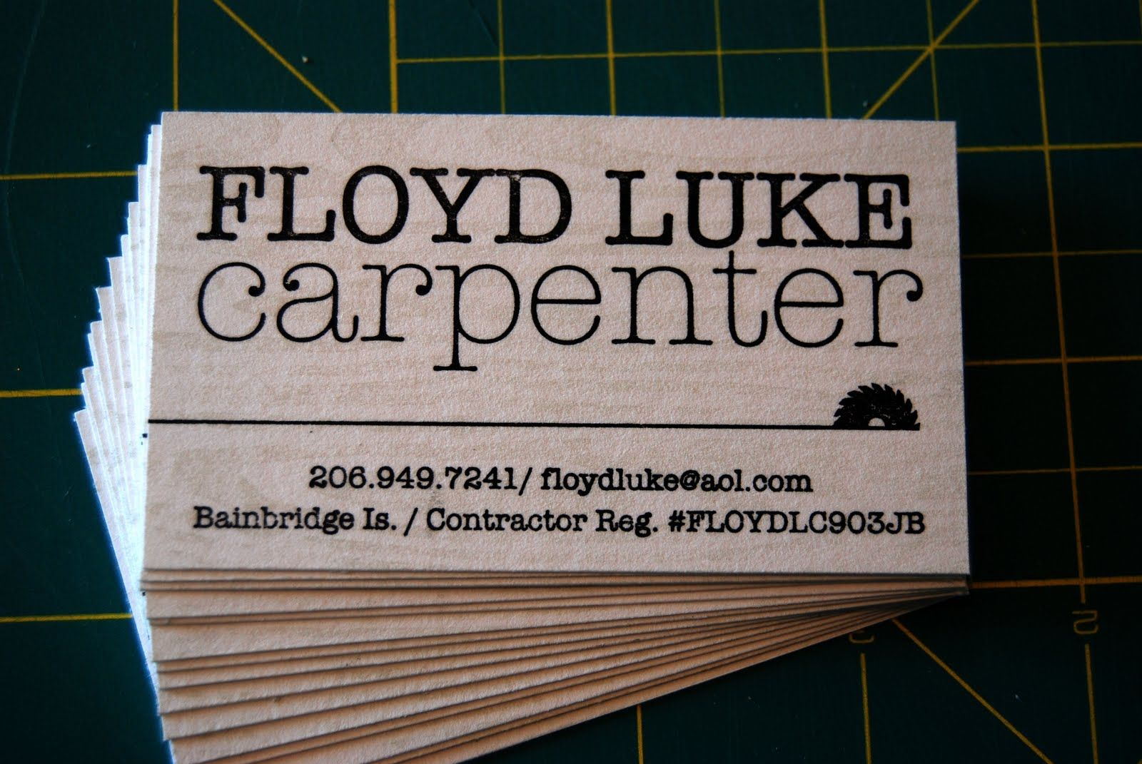 Carpenter business cards google search office pinterest carpenter business cards google search fbccfo Choice Image