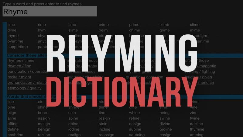 Here are the best free online Rhyming Dictionary websites