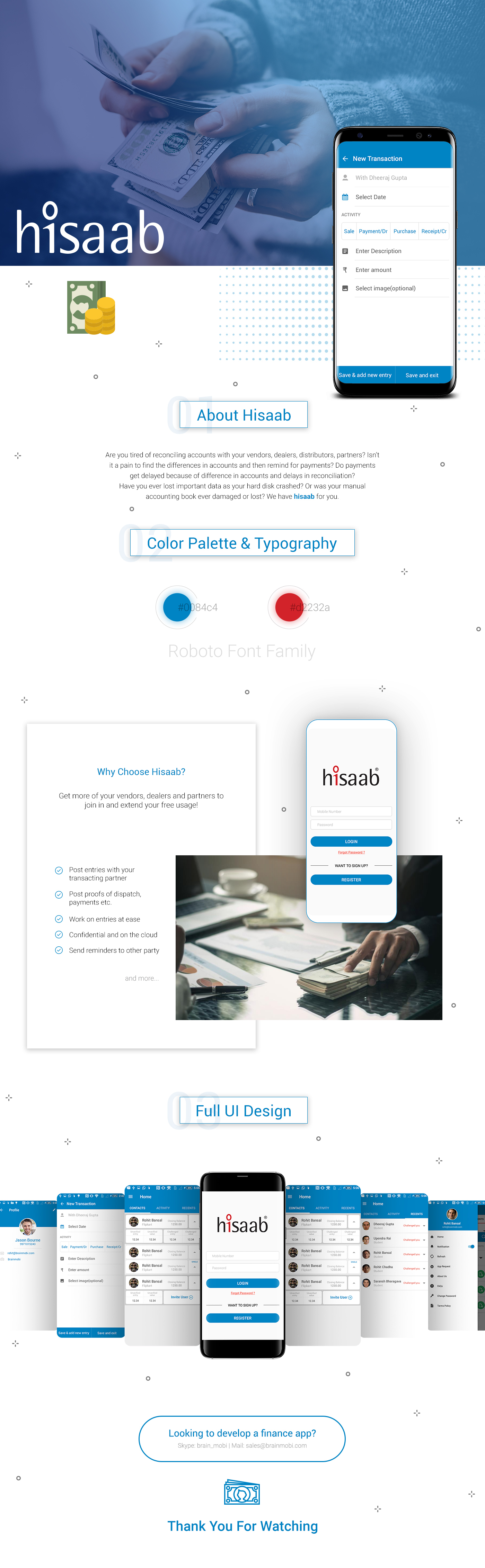 Hisaab is an easy to use accounting app that help you
