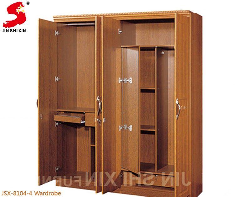 Home Furniture Wood Almirah Designs 4 Door Wardrobe Cabinet Cheap Modern Wood Almirah Designs In In 2020 Cupboard Design Furniture Design Wooden Wall Wardrobe Design