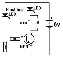 1 - 200 Transistor Circuits | blinking led circuit. | Pinterest ...