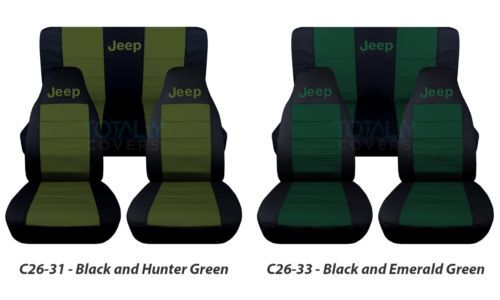 Details About Jeep Wrangler Yj Tj Jk Jl 1987 2020 2 Tone Seat Covers Your Name Front Rear Set With Images Jeep Wrangler Yj Jeep Covers Jeep Wrangler