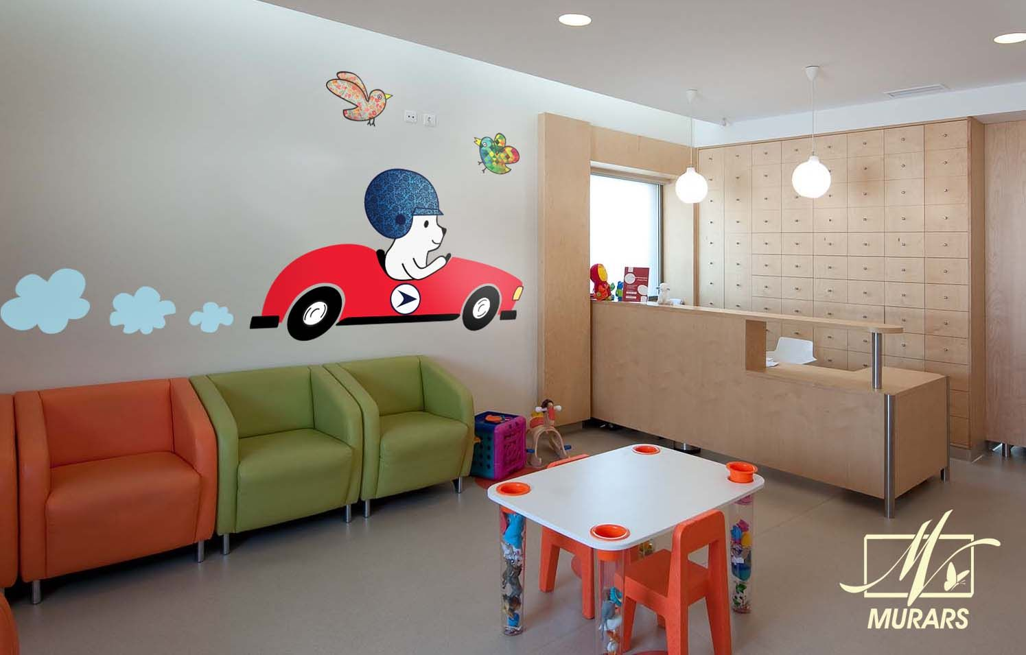 1000 Images About Ideas Para El Consultorio On Pinterest: Decoración Para El Looby De Una Clinica Pediatrica. MURARS