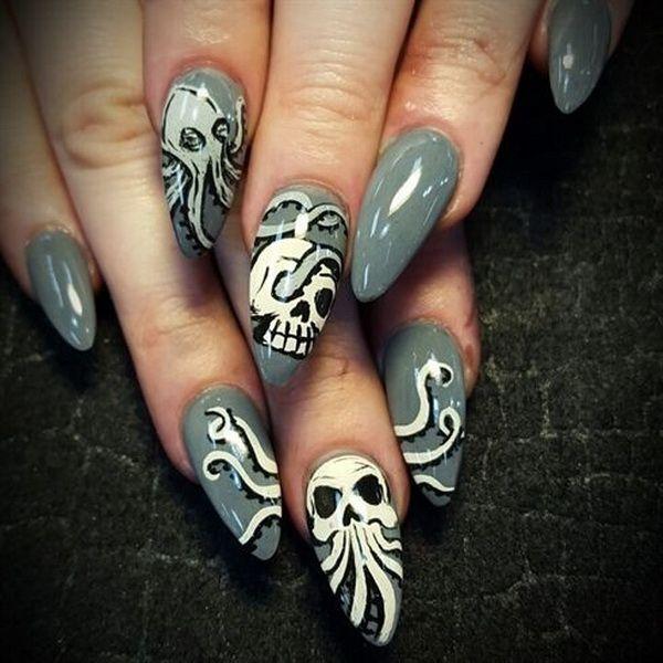 40+ Cute and Spooky Halloween Nail Art Designs - Listing More - 40+ Cute And Spooky Halloween Nail Art Designs Stilettos, Makeup