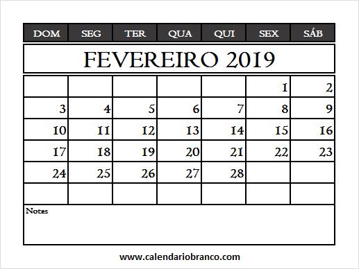 Calendario Rosa Png.Calendario Fevereiro 2019 Rosa February 2019 Calendar