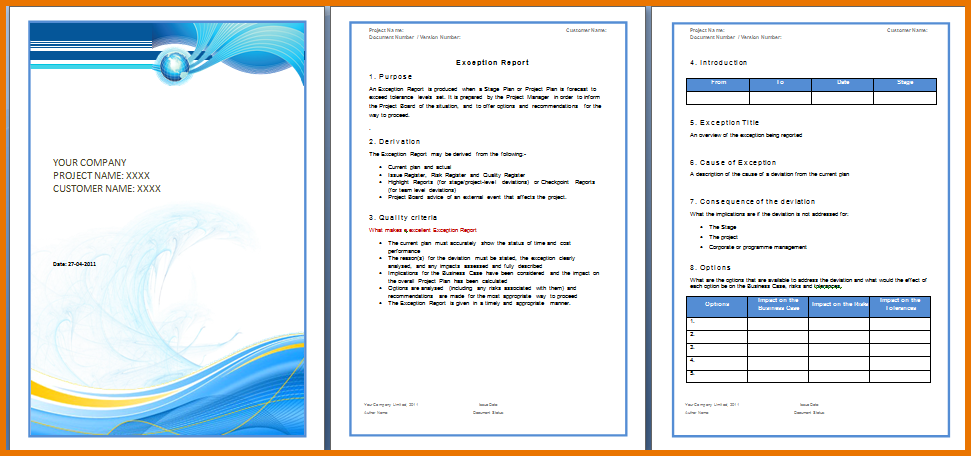 Report Template Free Download Word (3) | TEMPLATES EXAMPLE ...