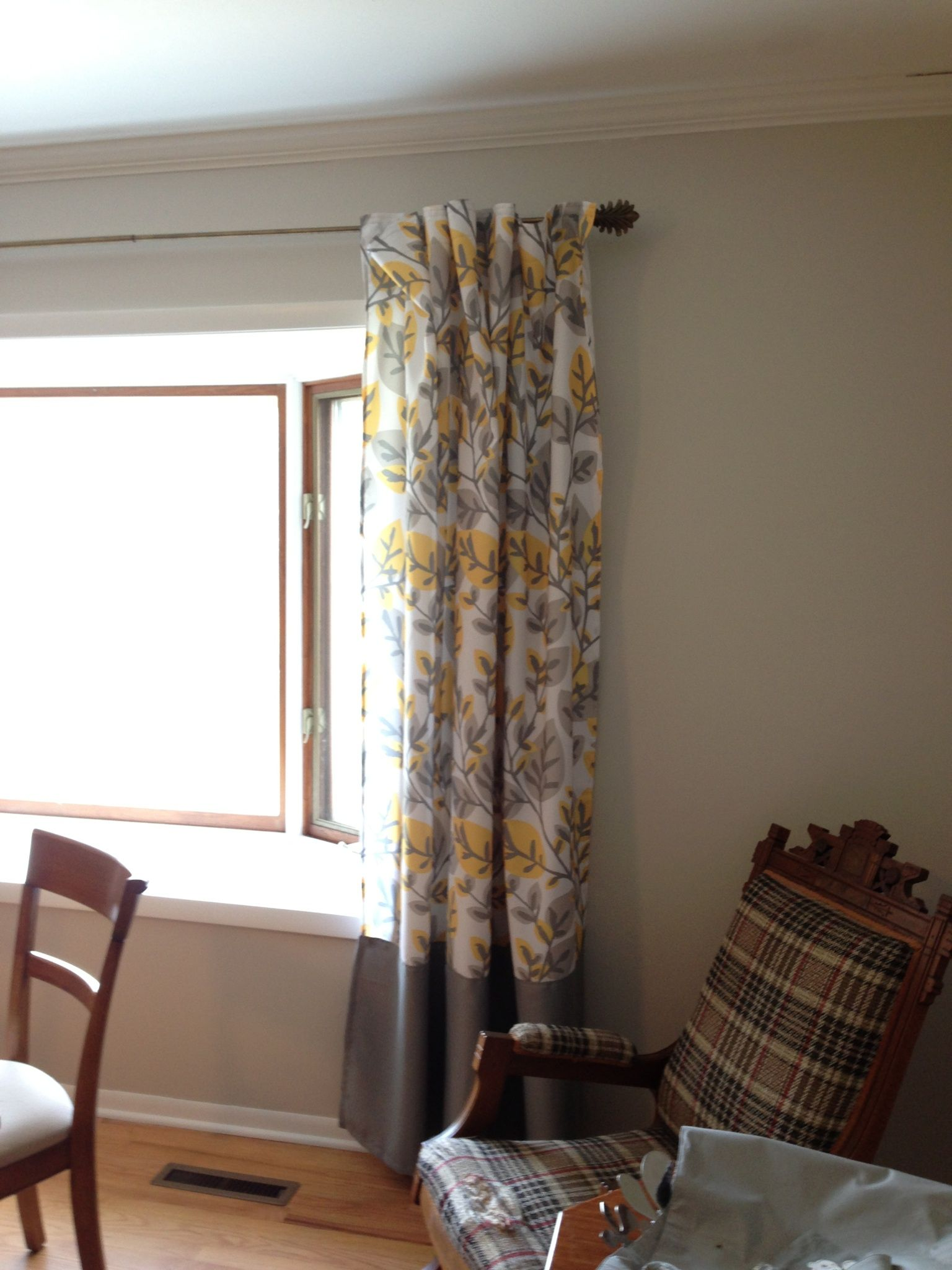 Modified shower curtain drapes. Buy 2 standard fabric shower ...