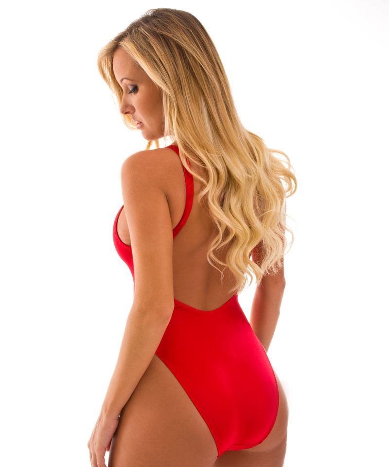 ce95d487fa7 Womens-Bathing-Suits-One-Piece-Swimsuit-in-Baywatch-Lipstick-Red-by-Skinz