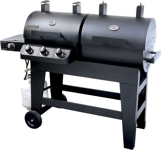 Dual Function Charcoal Gas Smoker Grill 810 3821 S Brinkmann Gas Grill Smoker Grilling Gas And Charcoal Grill