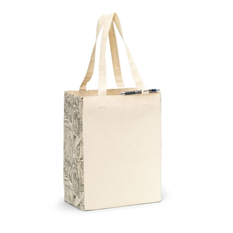 Origins Cotton Market Tote | Custom Promotional Tote Bags. Elevate your shopping tote collection with the Origins Cotton Market Tote. This all-cotton custom tote adds style and fun to light grocery shopping or a trip to the mall. With a large capacity you're sure to use this custom tote everyday!