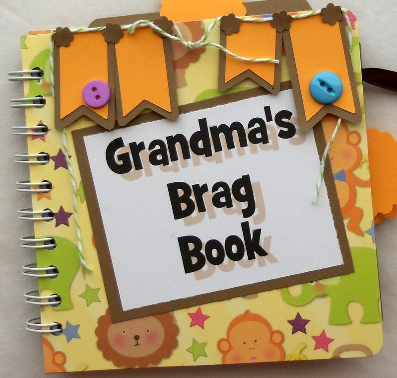 Grandmas Brag Book Premade Scrapbook Album Photo Album Brag Book
