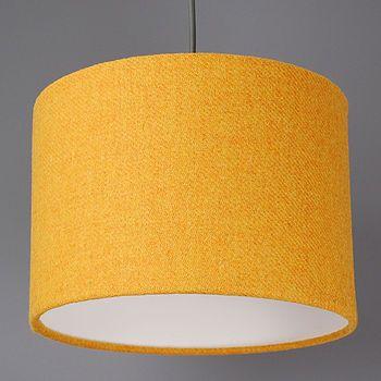 Harris tweed plain bright mustard yellow drum shade harris tweed bright mustard yellow harris tweed lampshade aloadofball Gallery