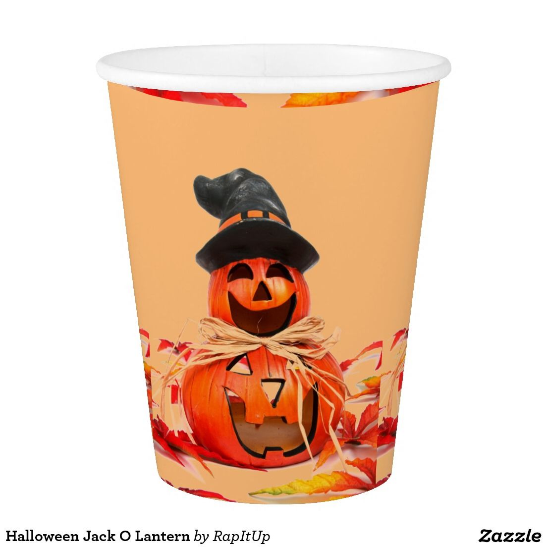 Halloween Jack O Lantern Paper Cup