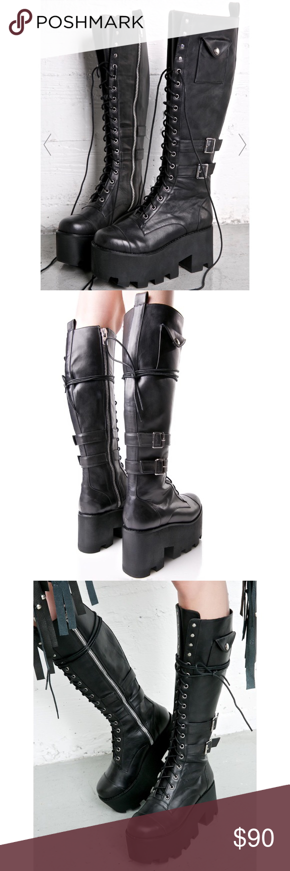 564596853d0aa Current Mood Boots (dolls skill) Jane Doe Boots - Current Mood ( dolls kill  ) BRAND NEW - never worn   size 9 3.5
