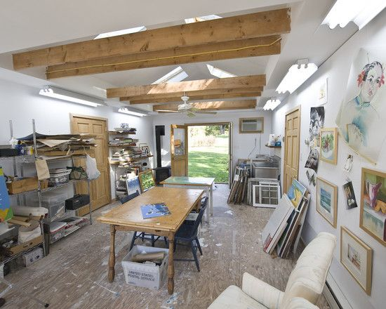 Convert Garage To Studio Design, Pictures, Remodel, Decor And Ideas   Page  4 | Craft Room Doors | Pinterest | Studio Design, Art Studio Design And Art  ...