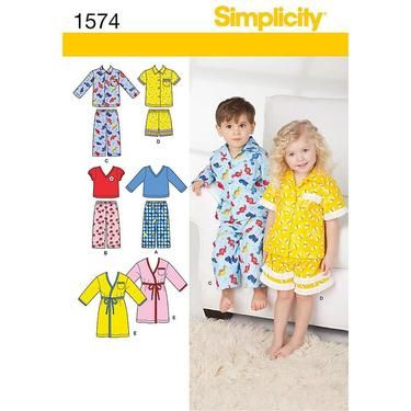 Simplicity 1574 Kid\'s Sleepwear 6 Months - 4 Years | Spotlight ...