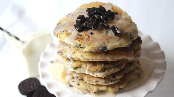 Cookies and Cream Pancake Cake Pancake cake Birthdays and Ice