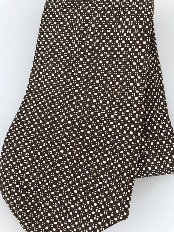 397b5f292725 Vintage Hermes Brown Squares Wide Silk Tie 365 EA H Lable Tie ...