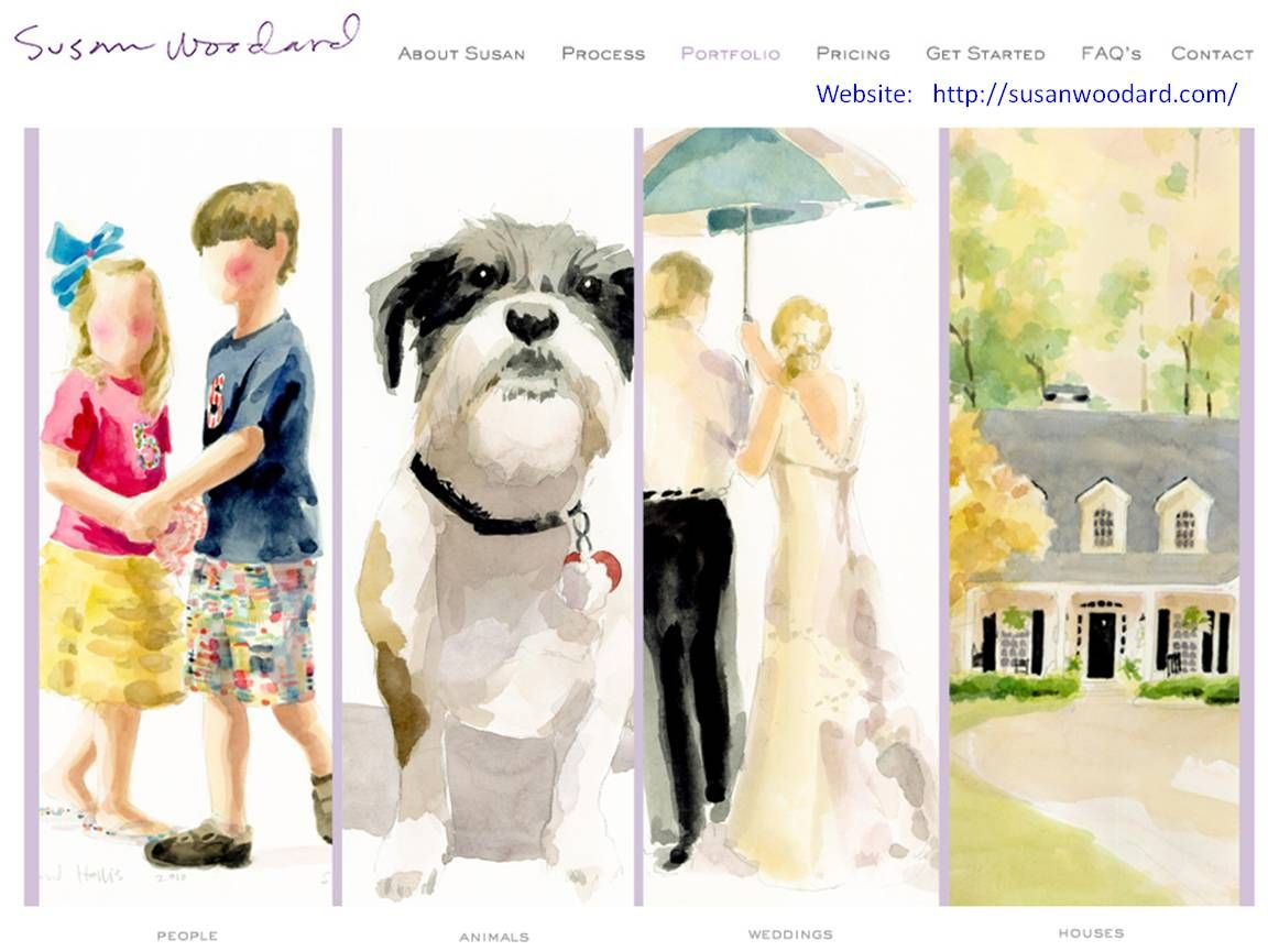 Photograph to Watercolor Painting by Susan Woodard (susanwoodard.com)
