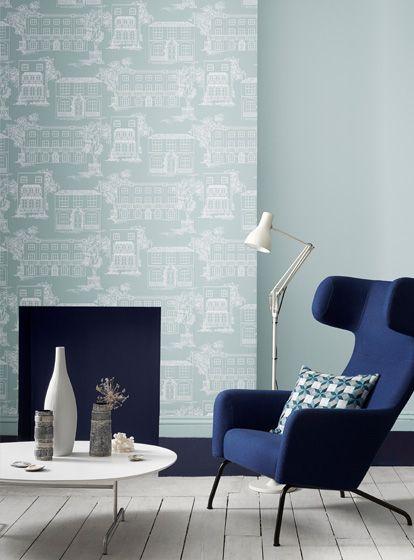 Hellblau Wandfarbe | Wandfarbe Von Little Greene Dezente Blautone In Hellblau Und