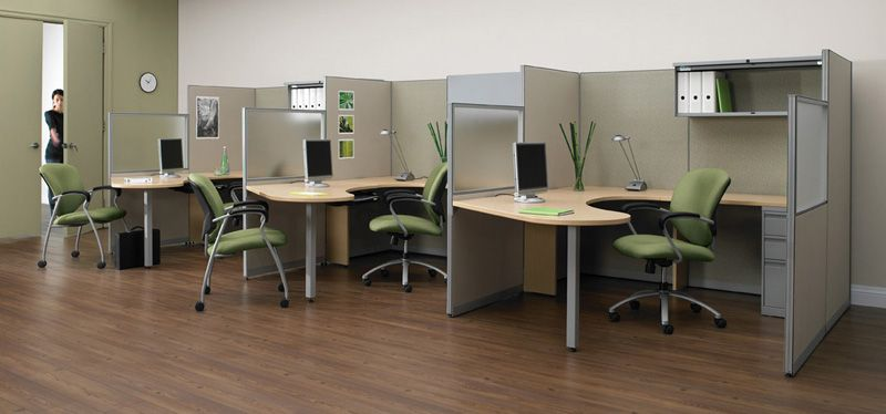 Economical furniture systems designed with small office space in