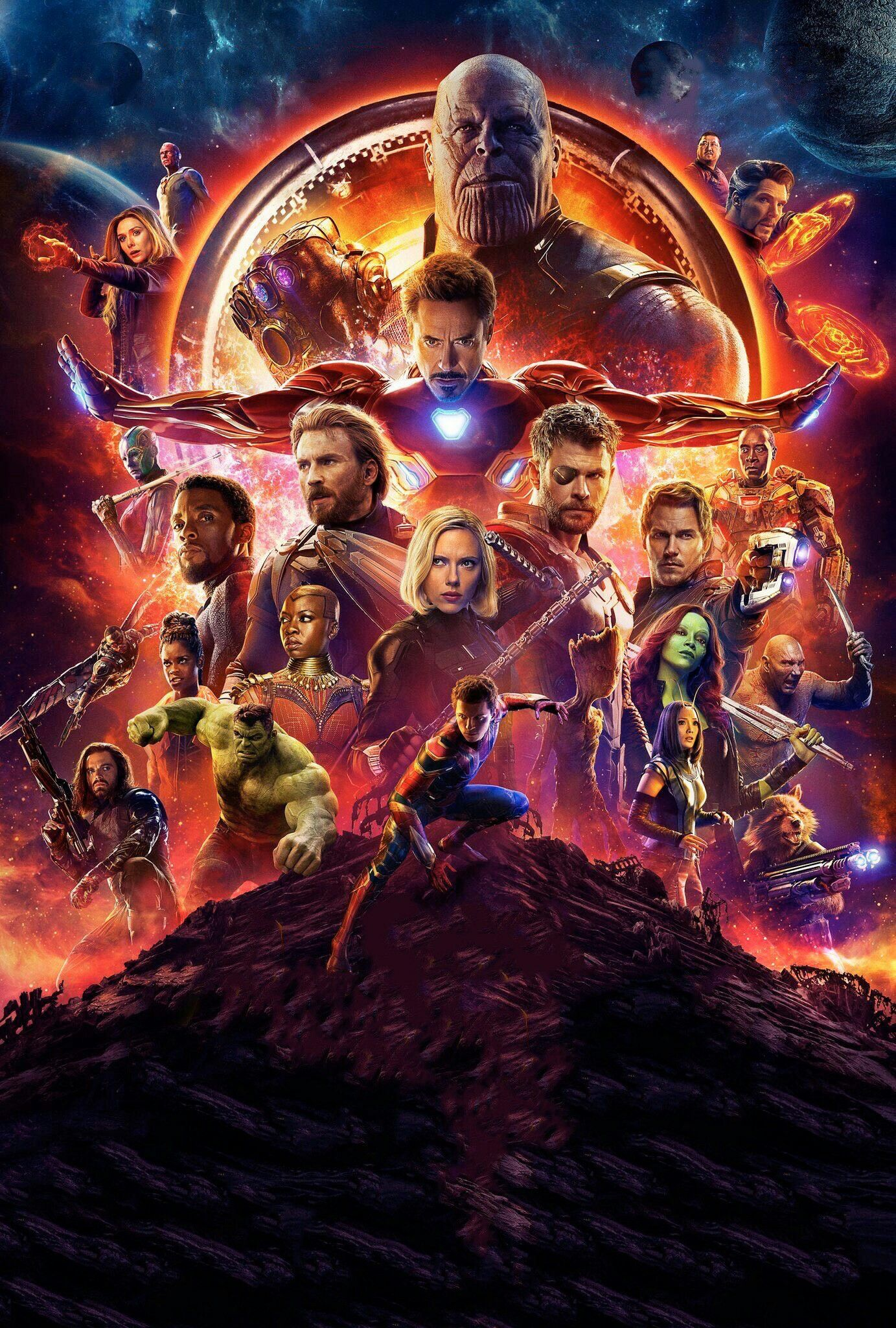 Textless Avengers Infinity War Theatrical Poster By Twitter User
